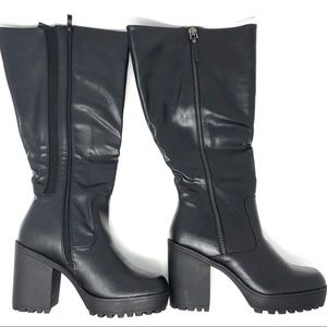 121c8e1c8d71 torrid Shoes - Torrid Wide Width   Calf Lug Heel Knee High Boots